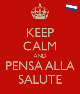 keep calm and pensa alla salute