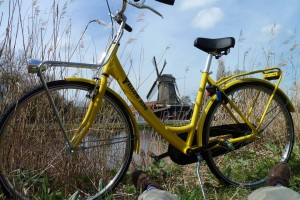 yellow bike Amsterdam